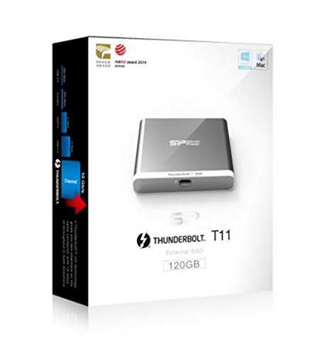 120GB Silicon Power T11 External SSD for Mac Thunderbolt Interface by Silicon Power (Image #3)