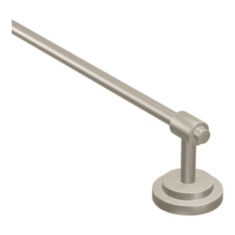 Moen DN0718BN Iso 18-Inch Towel Bar, Brushed Nickel