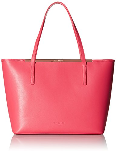 Ted Baker Neylan Crosshatch Shopper with Pouch Tote Bag, Red, One Size