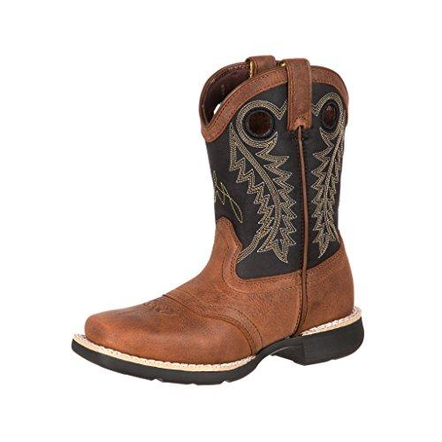 DBT0144 Lil' Durango Big Kid Saddle Western Boots - Rocky Kids Cowboy Boots