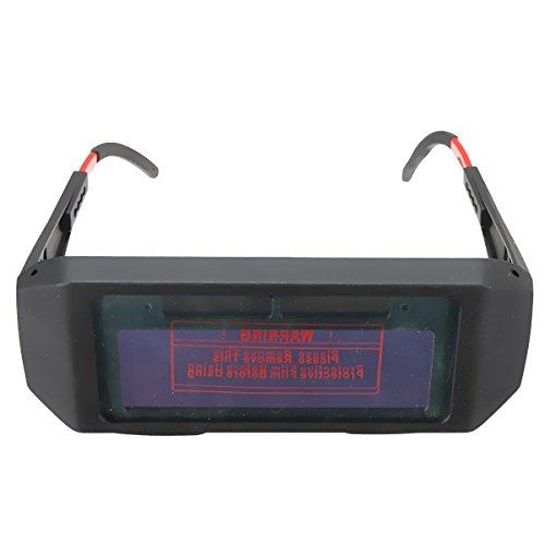 Solar Powered Auto Darkening Welding Glasses Face Mask Shield TIG MIG MMA Mask Helmet - Mask Glasses Clip On