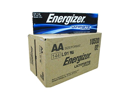 Energizer AA Ultimate Lithium 144 Batteries ''In Original Box'' by Energizer