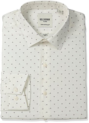 ben-sherman-mens-skinny-fit-triple-dot-print-spread-collar-dress-shirt-burgundy-155-neck-32-33-sleev