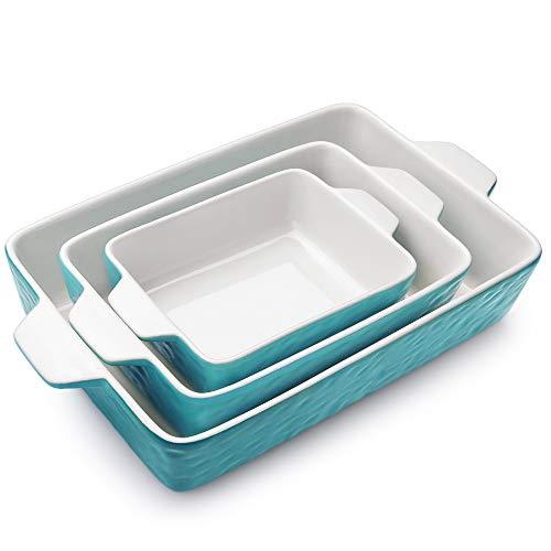 Bakeware Set, Krokori Rectangular Baking Pan Ceramic Glaze Baking Dish for Cooking, Kitchen, Cake Dinner, Banquet and…