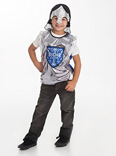 [Little Adventures Boys Blue & Silver Armor & Helmet Set - One-Size (3-8 Yrs)] (Shining Knight Costumes)