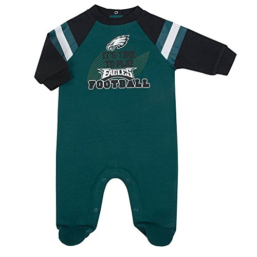 NFL Philadelphia Eagles Unisex-Baby Sleep 'N Play, Green, 6-9 Months