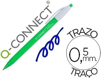 Boligrafo q-connect retractil kf14625 biodegradable verde tinta ...