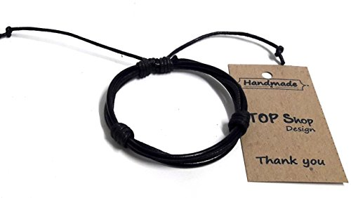 [style Mens Vintage Leather Wrist Black Rope Bracelet Bangle] (Dance Moms Amber Alert Costumes)
