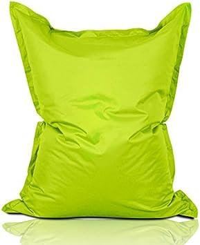 Imagen deLumaland PUF otomano Puff XL 120 x 160 cm 270l con Relleno Innovador Puff para Interiores y Exteriores Verde Manzana