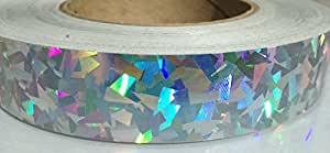 "60 ft. roll of 1"" Rainbow Kaleidoscope Metallic Hula Hoop Tape"