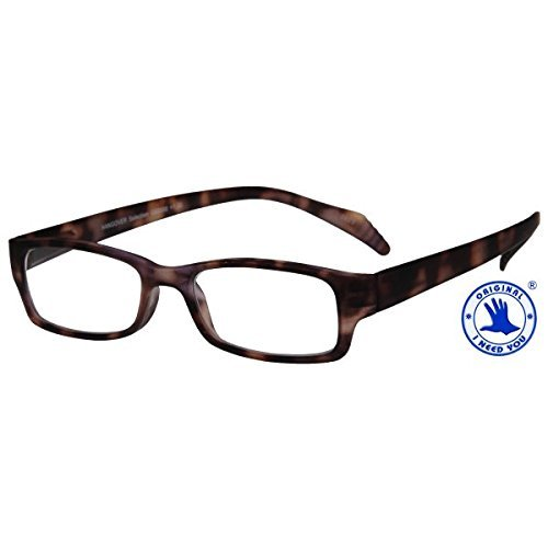 I NEED YOU Readers Havana Hangover Select Plastic Frame With Extra Long Spring Temples Reading Glasses +2.5 Strength Or Choose Your -