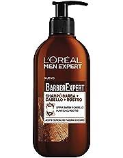 Men Expert Shampoo Barba, Rostro y Cabello Barber, 200 ml, Paquete de 2