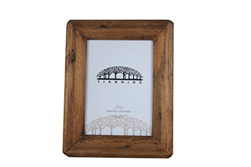 Handmade Wooden Photo Frame,4×6 Inches Simple Rectangular Desktop Family Picture Photo Frame,(46, BROWN)