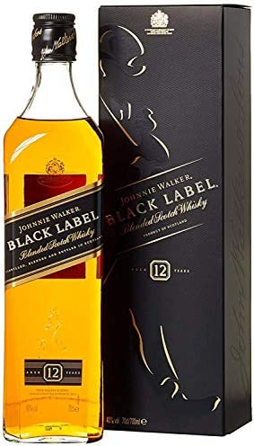 Black Label Price >> Johnnie Walker Black Label Blended Scotch Whisky 70cl With Gift Box