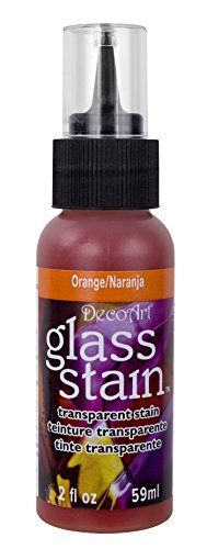 Transparent Glass Stain 2 Ounces-Orange (Transparent Stain Tip Kit)