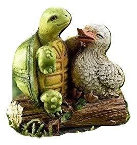 (Miniature Woodland Animal Fairy Garden Mini Forest Polystone Figurines (Duck & Turtle) 711244)