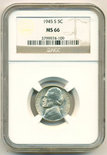 1945 S Jefferson Silver Nickel MS66 NGC