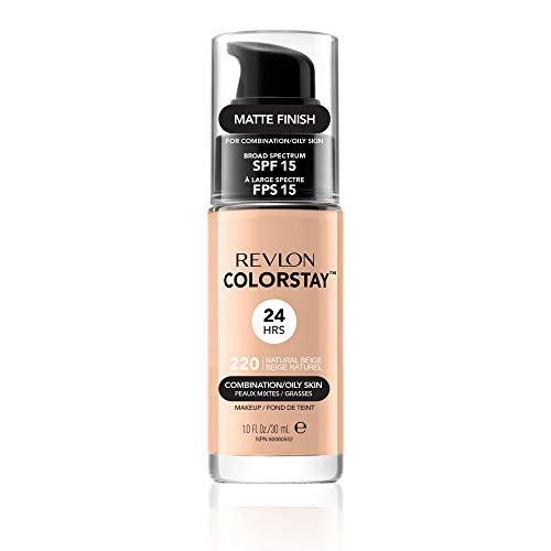Revlon ColorStay Makeup with SoftFlex, 220 Natural Beige, 1 oz. (Best Foundation For Combination Skin 2019)