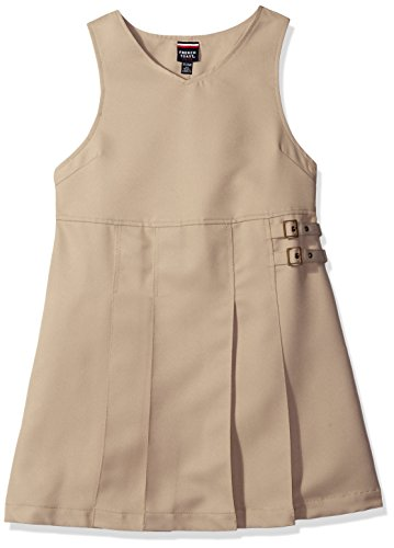 Buckle Khaki (French Toast Girls Size' Double Buckle Tab Jumper, Khaki, 12.5)