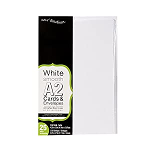 Amazon.com: Darice Heavyweight A2 Cards/Envelopes (25 Pack), 4.375 ...