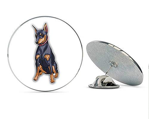 (Miniature Pinscher Breed Dog Round Metal 0.75