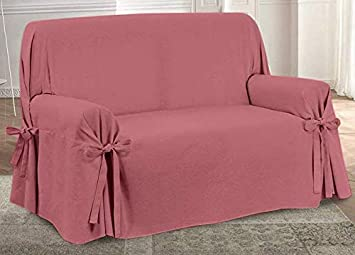 HomeLife – Cubre sofá de 3 plazas – Elegante Protector de sofás Liso – Funda de sofá de algodón para Proteger del Polvo, Las Manchas y el Desgaste, ...