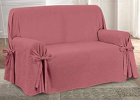 HomeLife – Cubre sillón – Elegante Protector de sofás Liso – Funda de sofá de algodón para Proteger del Polvo, Las Manchas y el Desgaste, Fabricado en ...