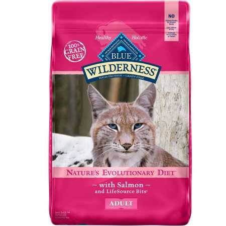 Blue Buffalo Wilderness Salmon Recipe 11 lb Cat Food