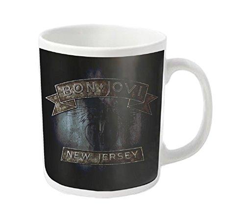 Bon Jovi Mug Jersey Band Logo Official White ()