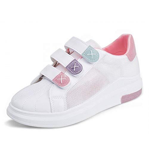 de para Casuales Deporte Moda Mujer Zapatos Transpirables Blanca Femeninos Zapatos Huecas de Zapatillas Caminar de Zapatos Cuñas Red Plataforma GUNAINDMX Zapatos AqFIZU