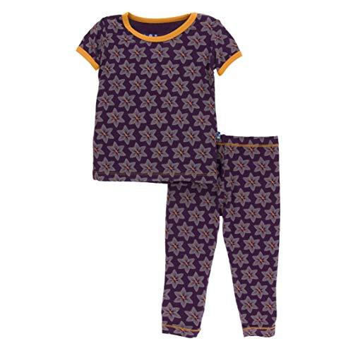 Kickee Pants Little Boys Print Short Sleeve Pajama Set - Wine Grapes Saffron, 18-24 Months