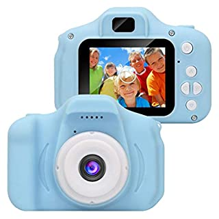 LEANO Kids Mini Digital Camera 2 Inch Screen 1280x720p Video Recorder Educational Toys for 4-12 Years Old Boys and Girls,32GB TF Card (Not Included) Digital Cameras