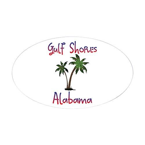 CafePress Gulf Shores Alabama Sticker Oval Bumper Sticker, Euro Oval Car Decal Alabama Oval Sticker Decal