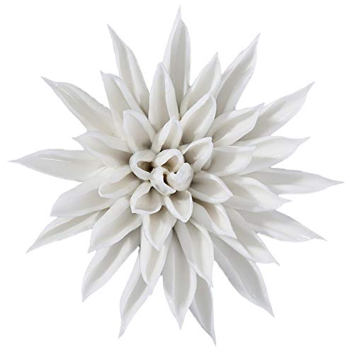 - ALYCASO Starfish Flower 3D Ceramic Flower for Home, The Kitchen, Living Room, Bedroom Wall Sculptures Decoration Art Hanging Flower, White, 3.14 inch