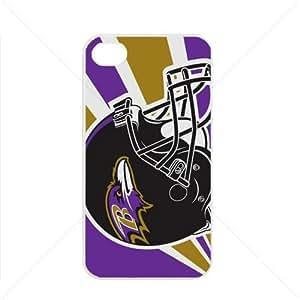 NFL American football Baltimore Ravens Fans Apple iPhone 4 / 4s pc hard hard Black or White case (White)