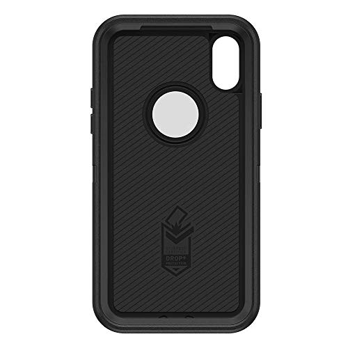 official photos 22cd2 ea1b1 Compatible with iPhone X and XS - OtterBox Defender Black Case with Belt  Clip Holster - Comes in Retail Packaging