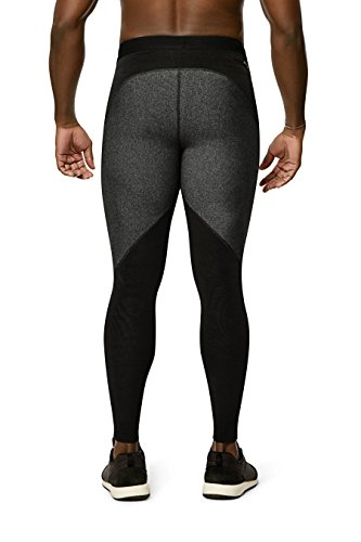 Physiclo-Pro-Resistance-Mens-Compression-Full-Length-Tight-Training-Pants-with-Built-in-Resistance-Band-Technology-GreyBlack-XX-Large