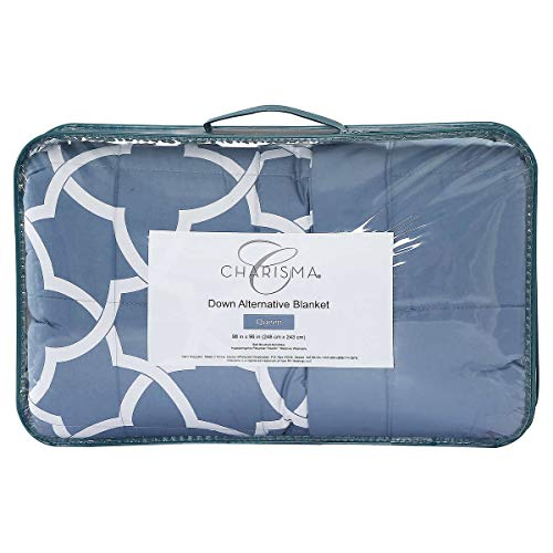 - Charisma Down Alternative Blanket Blue Queen 98 in x 96 in