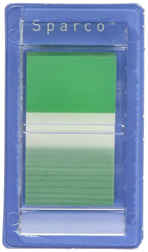 Sparco Pop-up Removable Standard Flags, 1-Inch, 100-Pack, Green (SPR19262) ()