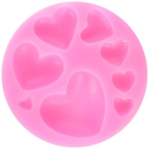 Longzang Small Love Heart Silicone Mold Sugar Craft DIY Gumpaste Cake Decorating Clay