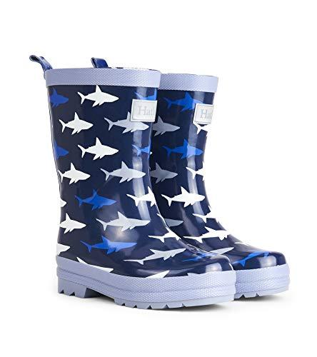Hatley Boys' Printed Rain Boots Raincoat Colorful Sharks 4 US ()