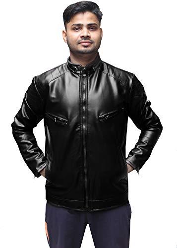 Aanishq Men's PU Faux Leather Jacket