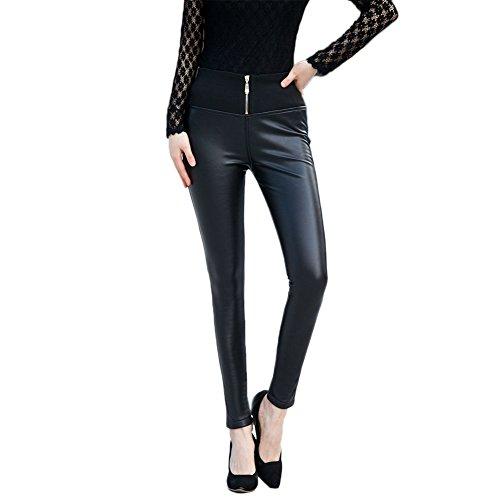 JCY Women's Black Skinny Pants 5XL(US:12) Black