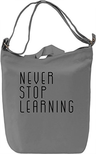 Learn Everyday Borsa Giornaliera Canvas Canvas Day Bag| 100% Premium Cotton Canvas| DTG Printing|