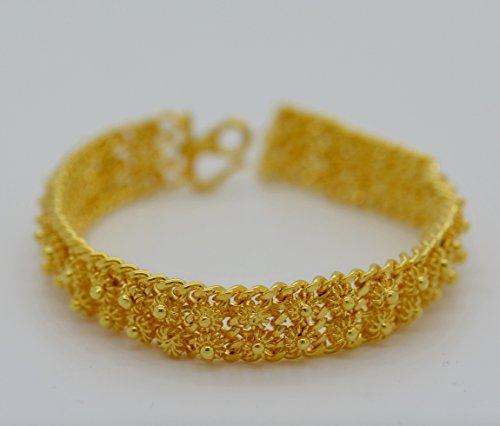 24k Bangle - Gorgeous 22k 23k 24k Yellow Gold Plated Women Gorgeous Cuff Bangle Bracelet Pikul Sukhothai Style