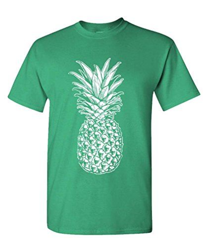 SKULL PINEAPPLE - retro style hipster - Mens Cotton T-Shirt, M, ()