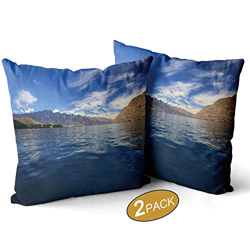 Nine City Kayaking in New Zealand Throw Pillow Cushion Cover,127492 Decorative Square Accent Pillow Case,20