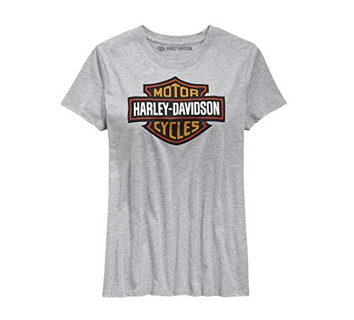 Harley-Davidson Official Women's Logo Tee, Gray (XX-Large) ()
