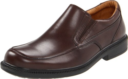 Hush Puppies Men's Leverage Slip-On,Brown Leather,11 M US