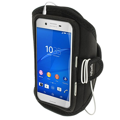 iGadgitz Water Resistant Black Sports Jogging Gym Armband for Sony Xperia X F5121, F5122 & Xperia X Performance F8131, F8132